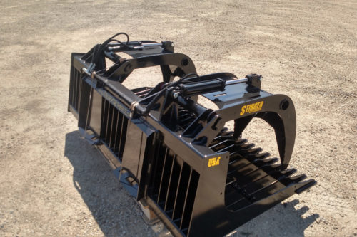 Stinger Attachments rock grapple bucket