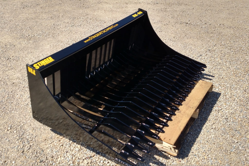 skid steer rock bucket