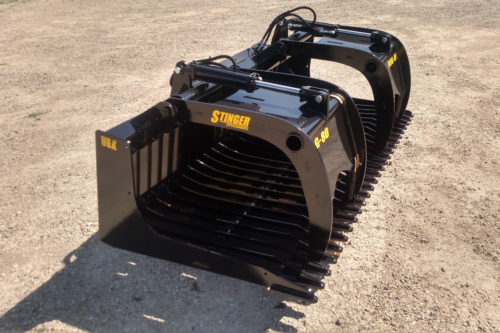 skid steer rock grapple bucket