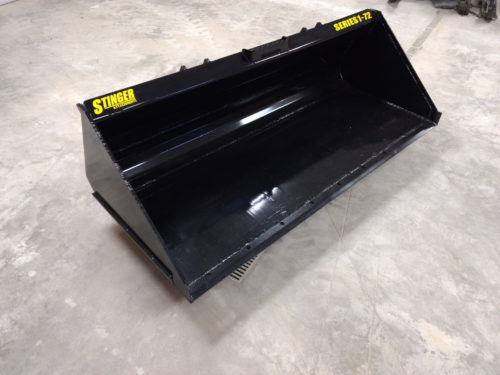 skid steer material bucket