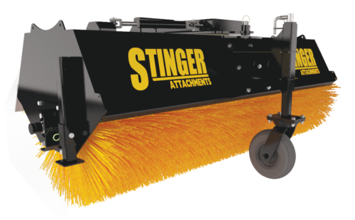 Sweeper Angle Broom Attachment for a Skid Steer